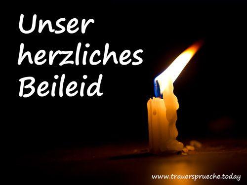 Bild Beileidssprüche – Unser herzliches Beileid mit einer Kerze …
