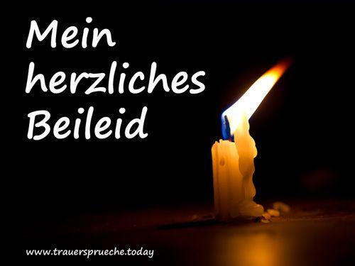 Bild Kondolenz – Mein herzliches Beileid mit einer Kerze