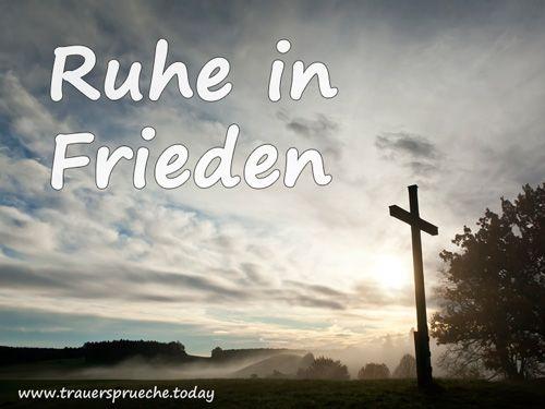 Trauerbild: Ruhe in Frieden mit schönem Kreuz