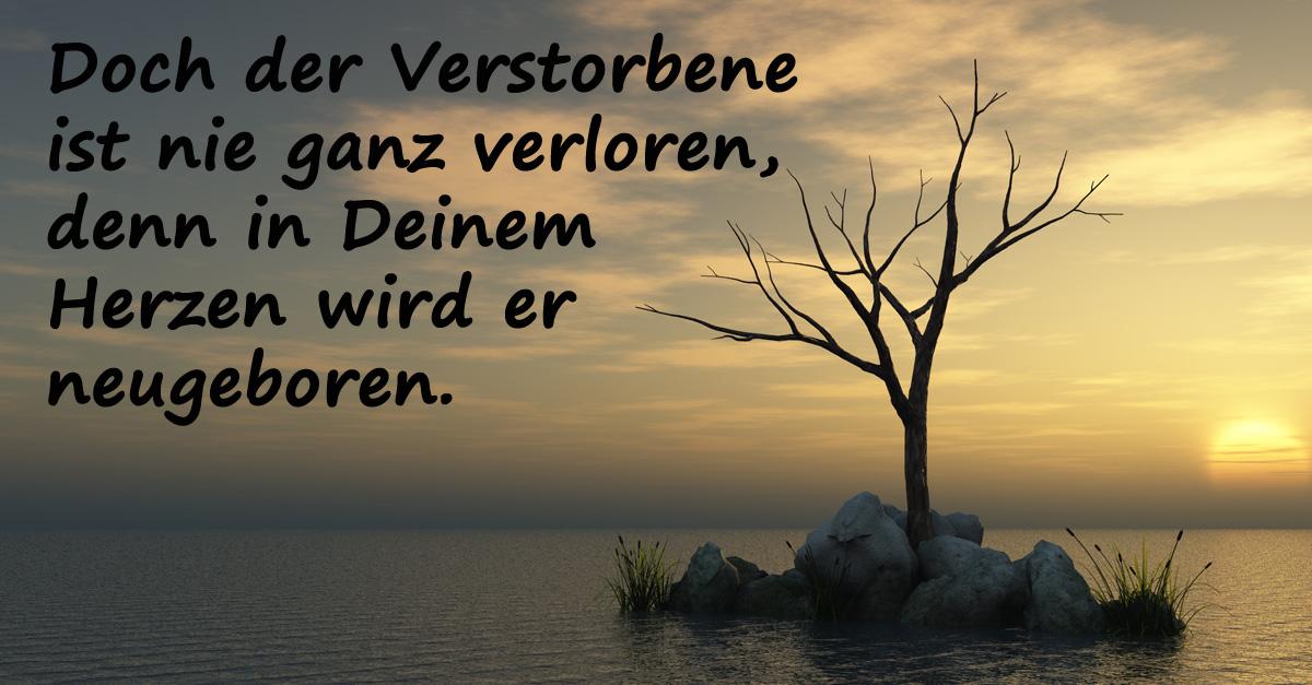 """Trauersprüche - Bild: """"Doch der Verstorbene"""""""