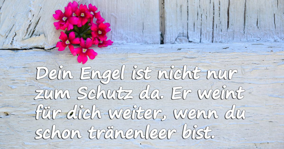 """Trauersprüche - schönes Bild: """"Dein Engel"""""""