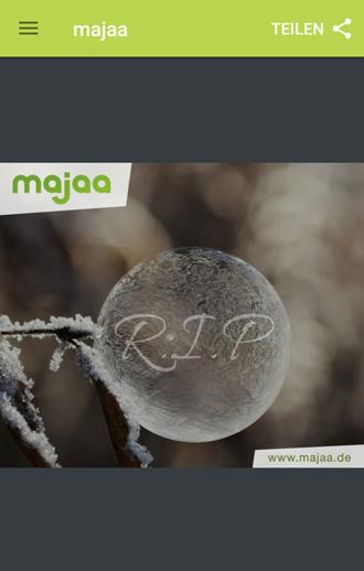 majaa Trauer App - einfühlsame R.I.P. Bilder