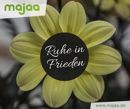 Bild: Ruhe in Frieden - Ewige Blume