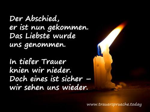 Trauerbild: Mit weißer Kerze