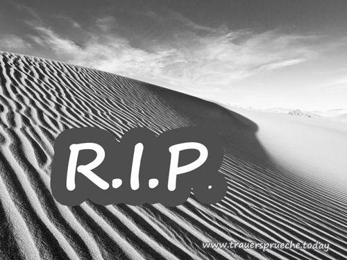 Trauerbild: R.I.P. - Endlose Düne