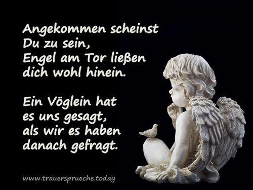 Trauerbild: Kleiner Engel