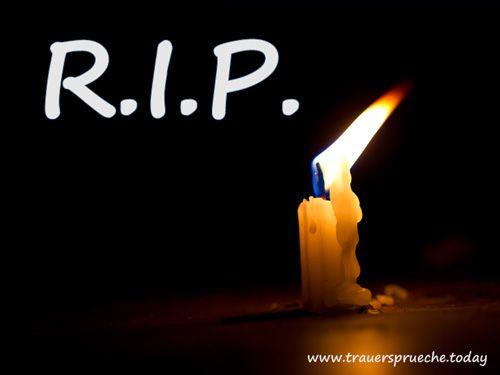 Trauerbild: Rest in peace (R.I.P.)