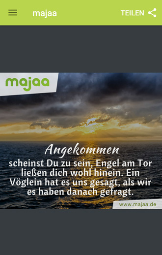 majaa Trauer App - einfühlsame Trauersprüche