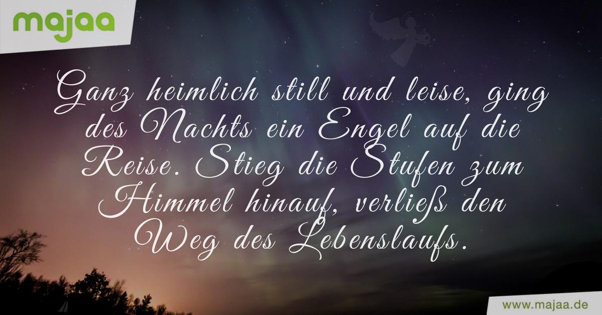 Trauerspruch Engel Kurz
