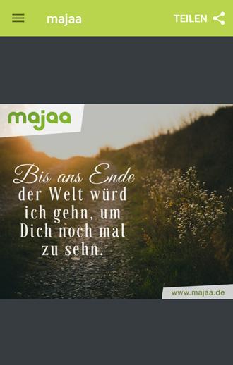 majaa Trauer App - wunderschöne Trauerverse