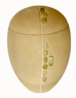 Erwachsene Urne für Asche Outdoor Marmor Urne in schönen Sand-Stein -