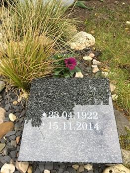 Grabplatte mit Gravur Granitplatte Grabstein Liegestein Urnenstein 30cm x 30cm x 6cm Grabplatte Impala -