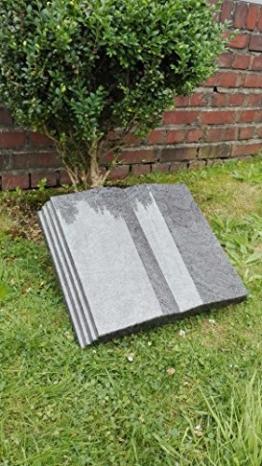Grabstein Buch inkl. Inschrift 50x40x10 cm Material: Bahama Blue -