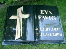 Grabstein Buch Liegestein Grabmal Urnenstein Urnengrabstein Bibel 40cm x 30cm x 6cm inklusive Gravur -