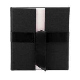 Kondolenzbuch - schwarzer Leineneinband mit Satinschleife - 144 Seiten -
