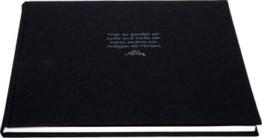 Kondolenzbuch Trost, schwarzer Leineneinband, 70 Seiten weiß blanko, 22 x 24 cm -