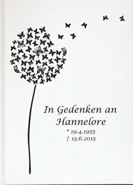 Personalisiertes Erinnerungsbuch Gedenkbuch Trauer Kondolenz Buch zum Gedenken (Motiv 07, 48 Seiten/ 24 Blatt) -