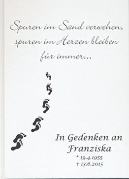 Personalisiertes Erinnerungsbuch Gedenkbuch Trauer Kondolenz Buch zum Gedenken (Motiv 11, 120 Seiten/ 60 Blatt) -