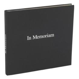 """Semikolon Kondolenzbuch schwarz mit silbernem Schriftzug """"In Memoriam""""   Hochwertiges Gästebuch für Trauerfeiern und Beerdigungen   240 blanko Seiten in hochwertigem Buchleinen-Einband   Format: 25 x 23 cm -"""