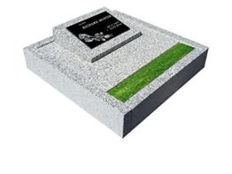 Urnengrab, Grabstein Grabmal, Grabplatte inkl. Inschrift und Motiv mit Sockel und Einfassung -