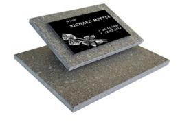 Urnengrabstein Nr. 11, Grabstein Grabmal, Grabplatte inkl. Inschrift und Motiv mit Sockel -