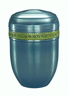 """Urns UK 18.3 x 18.3 x 26.6 cm Stahl """"Purley Gebürstet Stahl Mit Gummiband"""" Erwachsene Einäscherung Urne für Asche Metall Urne, Silber -"""