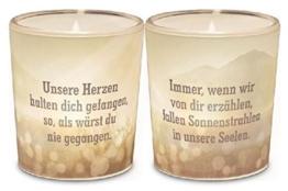 Windlicht+Teelicht 6x6cm Für Dich Trauer -