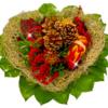 Grabstrauß in Herzmanschette Protea