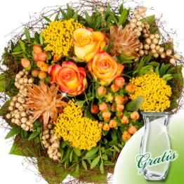 Trauerstrauß Frieden mit Vase