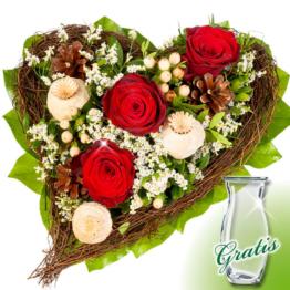 Trauerstrauß In Liebe mit Vase