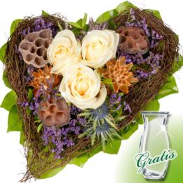 Trauerstrauß Kraft mit Vase