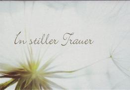 """Beileidskarte - Trauerkarte """"In stiller Trauer"""""""