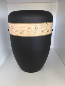 Bio Urne schwarz mit Fotomotiv