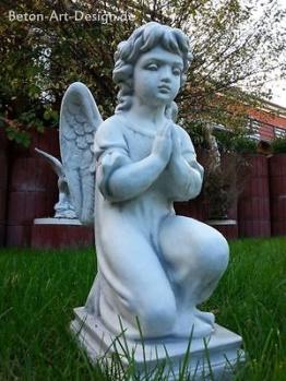 """Gartenfigur """"Betender Engel"""" 60 cm Steinguss, Grabfigur, Grabschmuck, Gartendeko"""