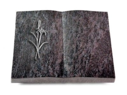 Grabbuch, Grabstein Buch, Grabplatte, Grabstein, Orion, 40x30x6 cm