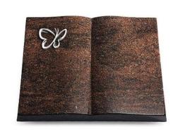 Grabbuch, Grabstein Buch, Grabplatte, Grabstein, teak, 40x30x6 cm