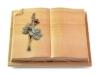Grabbuch, Grabstein, Buch, Grabplatte, Steinbuch,  Woodland, 40x30x7 cm