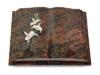 Grabbuch, Grabstein, Grabmal, Grabplatte, Steinbuch, Aruba, 40x30x7 cm