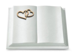 Grabbuch, Grabstein, Grabmal, Grabplatte, Steinbuch, Marmor, 40x30x8 cm
