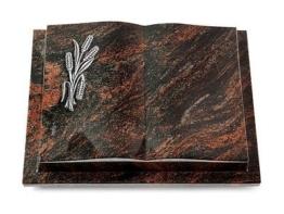 Grabbuch, Grabstein, Grabplatte, Grabmal, Buchform, Aruba, 40x30x8 cm