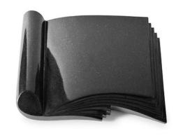 Grabbuch, Grabstein, Grabplatte, Grabmal, Buchform, Indisch Black , 40x30x6 cm