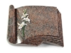Grabbuch, Grabstein, Grabplatte, Grabmal, Buchform, Paradiso , 40x30x6 cm