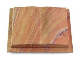 Grabbuch, Grabstein, Grabplatte, Grabmal, Buchform, Rainbow, 40x30x8 cm