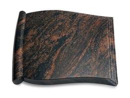 Grabbuch, Grabstein Grabplatte in Buchform, Aruba, 40x30x7 cm