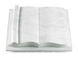 Grabbuch, Grabstein, Grabplatte in Buchform, Marmor, 40x30x8-9 cm