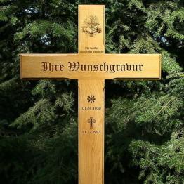 Grabkreuz, Holzkreuz, Eichenkreuz, inklusive edler Gravur, 120x54cm