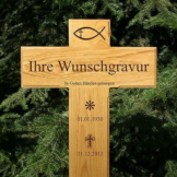 Grabkreuz, Holzkreuz, Straßenkreuz, inklusive edler Gravur Beschriftung, 80x40cm