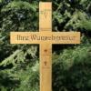 Grabkreuz, Holzkreuz, Unfallkreuz 100x45cm, massiv Eiche mit Gravur Beschriftung