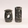 Grablampe Granit Grabschmuck- Set  Granit Grablampe Vase Azul Noche
