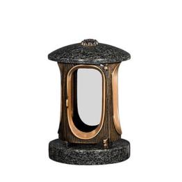 Grableuchte Granit Grabschmuck Grablicht Grablampe  aus  Granit    - Impala